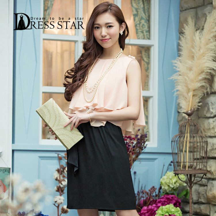 9650bd5603c ピンク パープル S(7号) M(7~9号) L(9~11号) XL(11~13号) XXL(15~17号) ネイビー パーティードレス結婚式ドレス ワンピース大きいサイズ ...