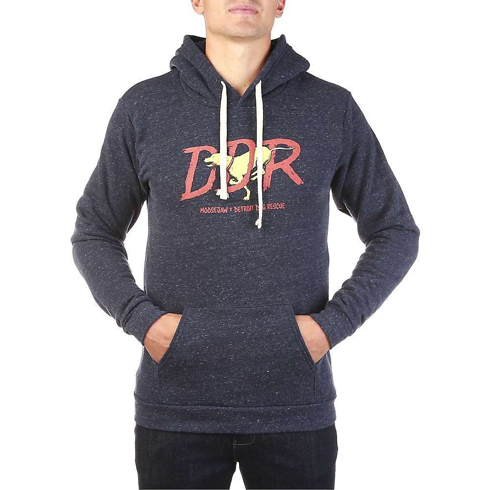 Mens Sweatshirt BLACK PULL OVER HOODIE Hood Ties POUCH POCKET Size XL 46-48