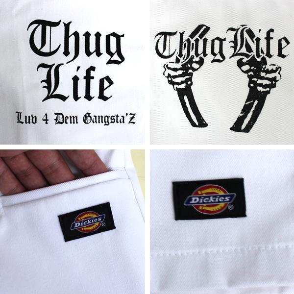 thuglife 和暴徒生活短裤暴徒监狱短裤白色黑帮品牌 hiphop 协作项目