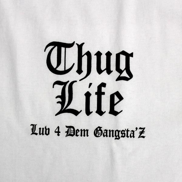 thuglife 暴徒生活短袖子 t 恤品牌标志和白色 x 黑黑帮品牌 hiphop