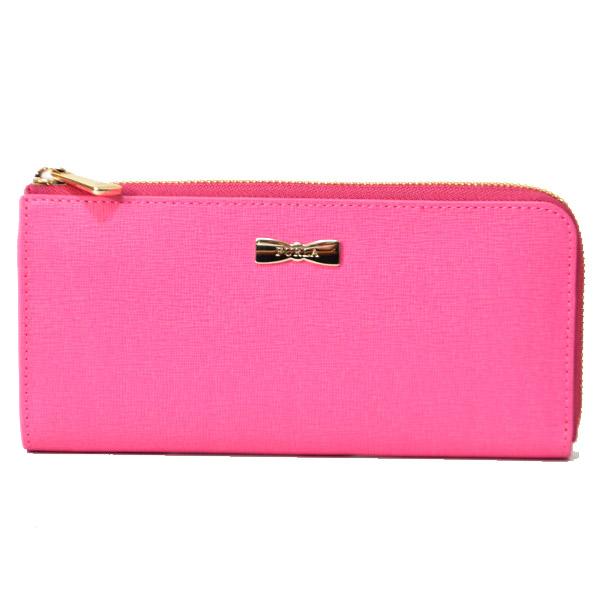 92efef52980e フルラよりとっても可愛い長財布を買い付けました?中でも幅広い年齢層の女性に人気のピンク系カラーのレザーを使用し、シンプルなデザインのフロントにはキュートな  ...
