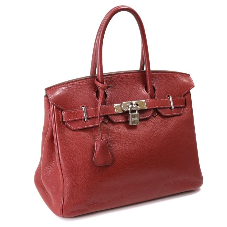 07353dbb6237 【】エルメス ハンドバッグ バーキン30 トゴ レッド □J刻印 HERMES [送料無料] [送料無料][]ブランド 女性 人気 かばん 赤  高級感のあるエルメスのバーキンです。