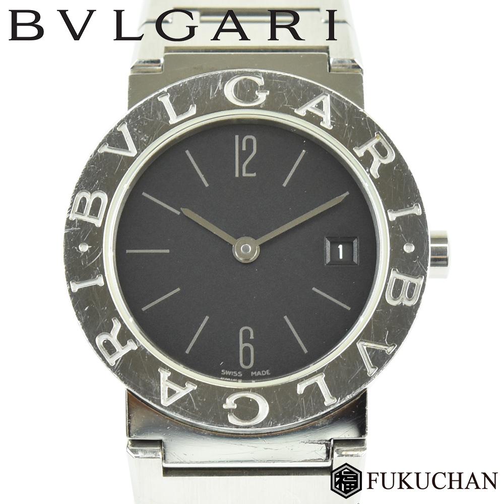 fc2ea69f7f5a 商品名BVLGARI ブルガリブルガリレディース ウォッチ時計/腕時計 クオーツ型番BB26SS色シルバー×黒文字盤 素材SS(ステンレススチール)サイズケース幅:約25mm