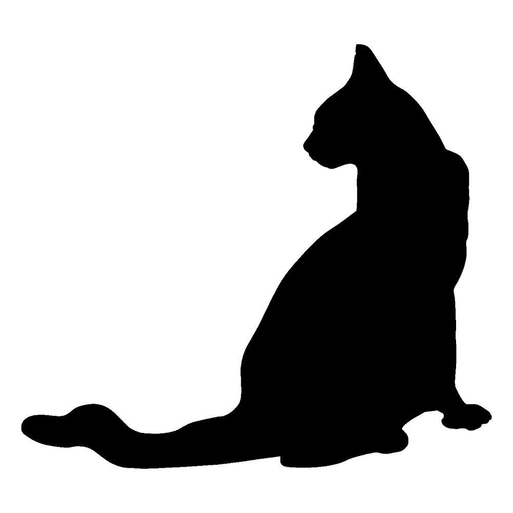 可爱猫咪贴纸剪影帧大小: 11 x 12 厘米.