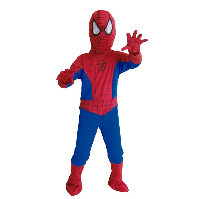 万圣节服装小孩男孩子服装蜘蛛侠!