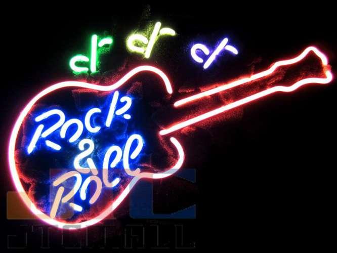 摇滚音乐酒吧吉他霓虹灯招牌霓虹灯广告霓虹灯美国小玩意签署霓虹灯管