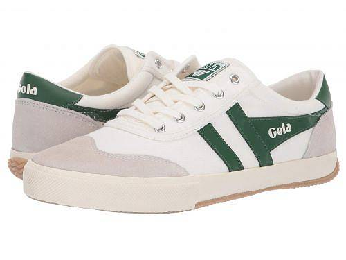 Gola Badminton Mens Off White Green Suede /& Textile Casual Trainers