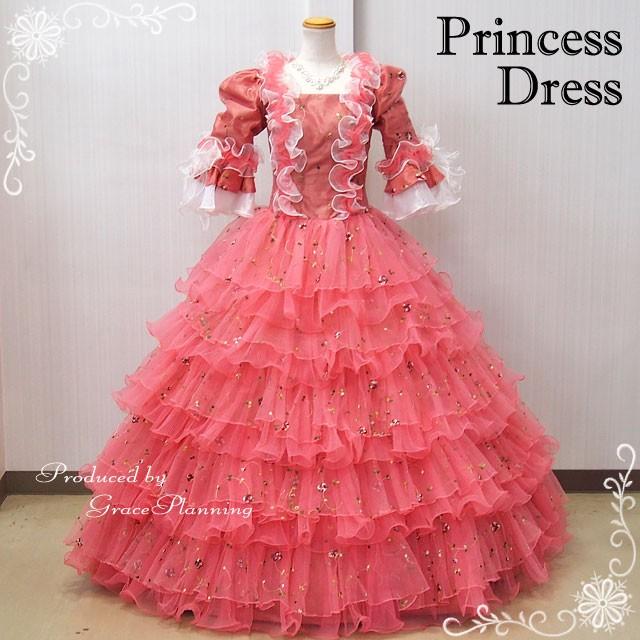 中世貴族衣装お姫様カラードレス ベール プリンセスドレス(9