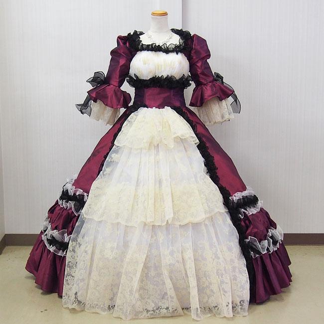 中世貴族衣装お姫様カラードレス 舞台衣装 プリンセスドレス(9号