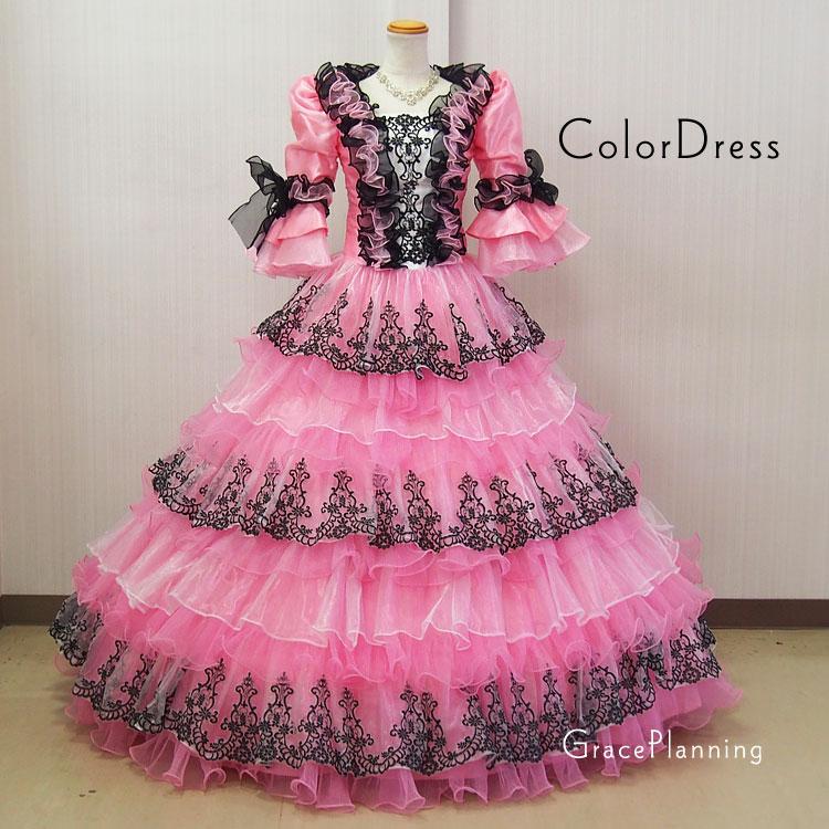 c80e6dd2ef01d 豪華フリルプリンセスラインのお姫様ドレス。 ふんわり可愛いカラードレスです。 演劇やオペラなど舞台衣装 ステージ衣装はもちろん、結婚式や二次会でもご着用頂け  ...