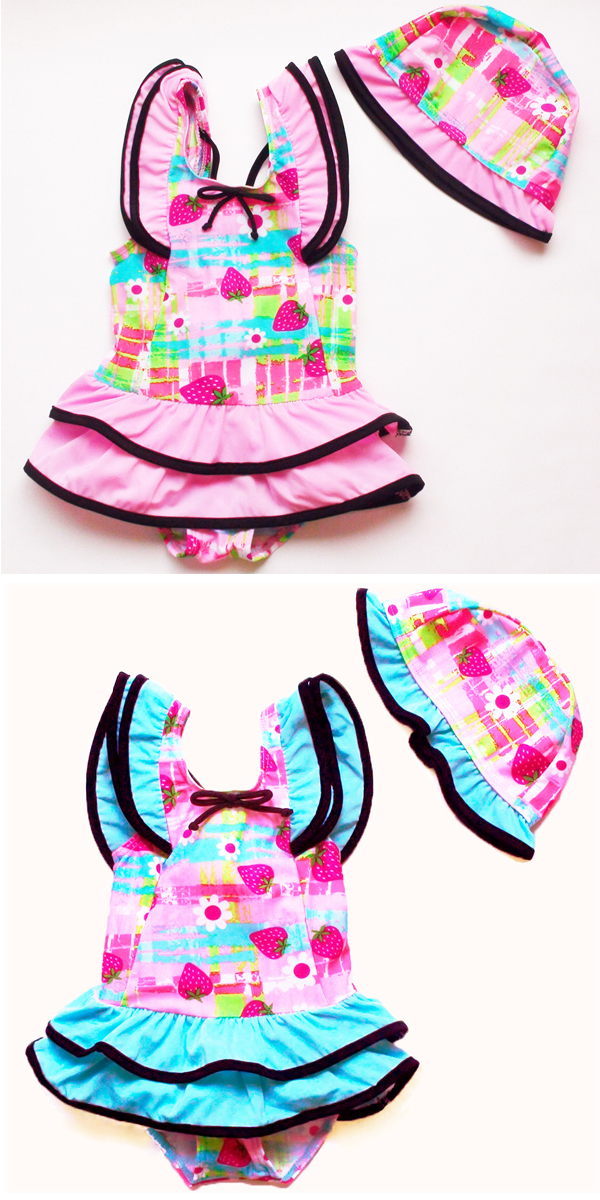 超级可爱连体花泳衣两集的 ★ 孩子婴儿泳装儿童泳装儿童泳装为孩子