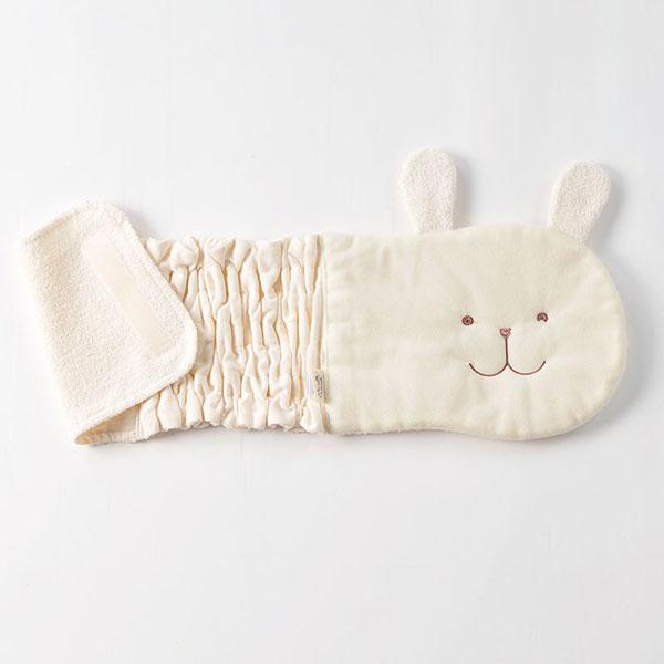 有机棉布婴儿&小孩笑眯眯的动物haramaki(开放的算式)