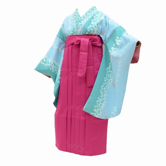 fea13dea9f4be リサイクル着物 着物ひととき 二尺袖 袴 卒業式 女の子 半幅帯 小学生 ...