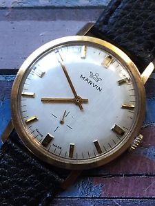 fcfbb79e85 【送料無料】腕時計 ウォッチビンテージマーヴィンメンズウォッチvintage marvin gold plated mens watch