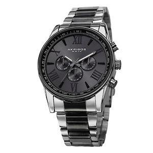 0aabd09fa0f2 【送料無料】腕時計 ウォッチメンズタキメータースチールブレスレット akribos xxiv akr736ttb mens multifunction  tachymeter steel bracelet watch