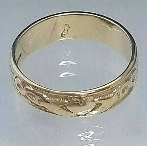9CT HALLMARKED YELLOW /& WHITE GOLD CELTIC KNOT DESIGN LADIES BAND RING