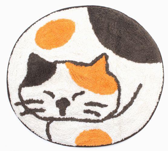 多垫子浴室防滑垫动物圆圆的动物室内装饰垫子(mikeneko)喜爱的垫子