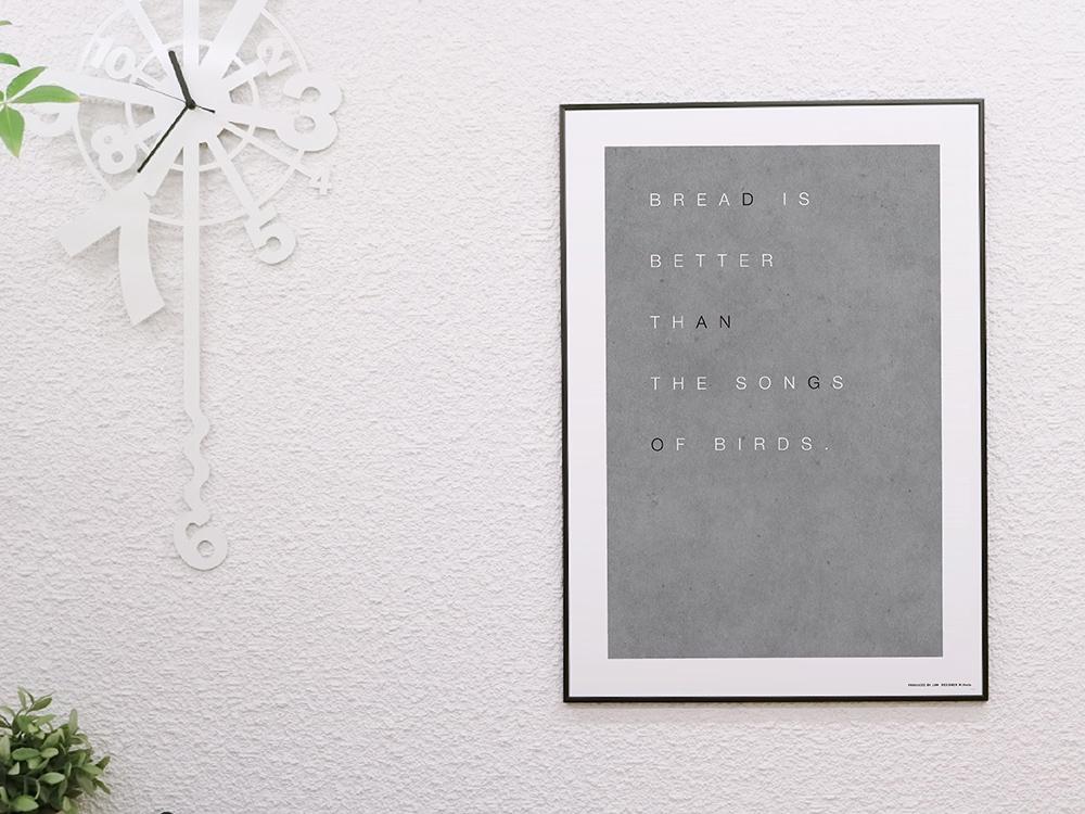 海报b2北欧艺术海报设计师黑白室内装饰漂亮 ※架子另外出售