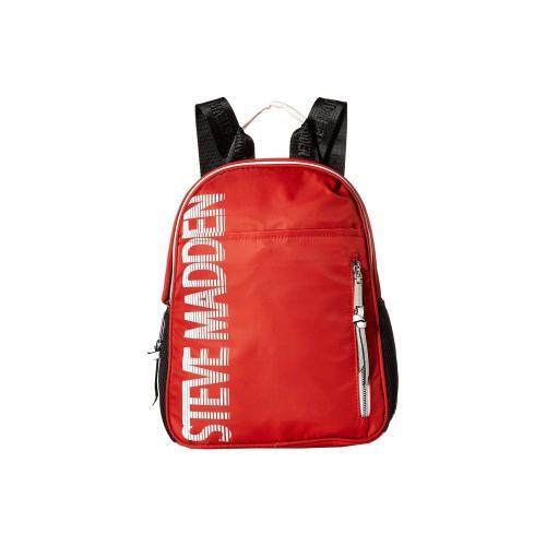 427401150e64 商品名. スティーブ スティーブマッデン スポーティー ロゴ バックパック バッグ リュックサック 赤 レッド レディース ...