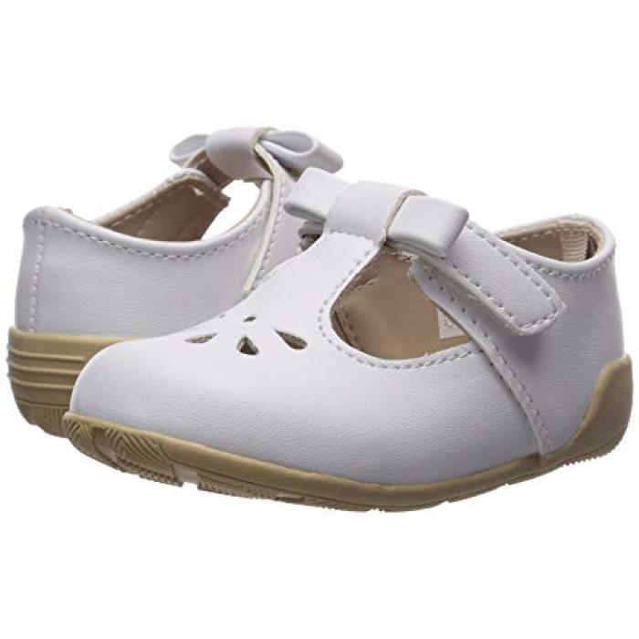 0d6e7d5eb3f7b ベイビーディアファーストカット白ホワイトベビー赤ちゃん用靴 BABYDEERFIRSTSTEPSTSTRAPWITHCUTOUTSINFANTTODDLERWHITE   ...