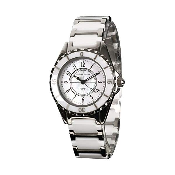 8e297a7eb5 【正規輸入品】(マウロジェラルディ)Mauro Jerardi 腕時計 MJ042-2 レディース(セラミックバンド ソーラー  アナログ)(快適家電デジタルライフ)