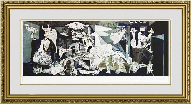 作者パブロピカソ作品名Guernica技法ジークレーサイン遺族直筆サイン\u201dCollection Domaine Picasso\u201dエディション:500部、鉛筆エディションナンバー証明書:あり絵柄