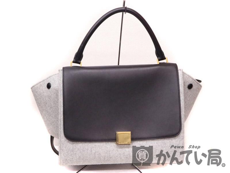 buy popular 10df9 98c30 CELINE【セリーヌ】 オンライン 169542 トラぺーズ ハンドバッグ ...