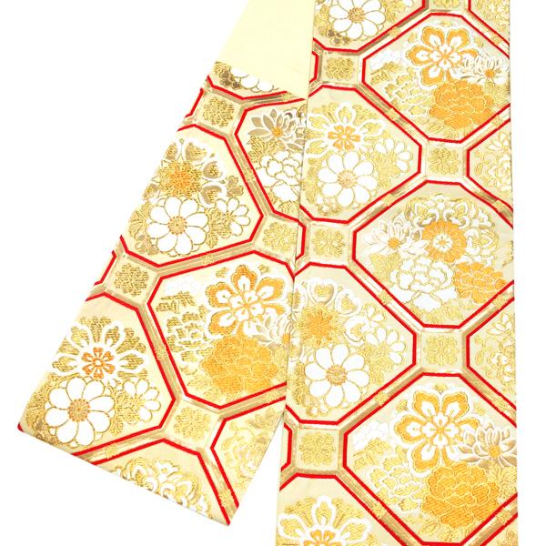 丝袋带古典花纹樱花吉祥花样缝制上礼服使用的成人仪式钱黄金ffo-106