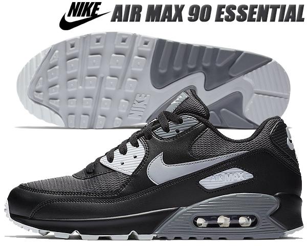 outlet store 1e863 50309 NIKE AIR MAX 90 ESSENTIAL black wolf grey-dark grey ナイキ エアマックス 90 スニーカー メンズ  ブラック ウルフグレー