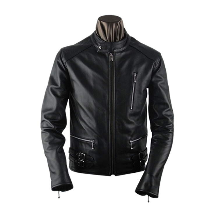 夹克新品牌男装英国类型单一射线桑德斯皮革皮夹克皮革牛仔皮革夹克