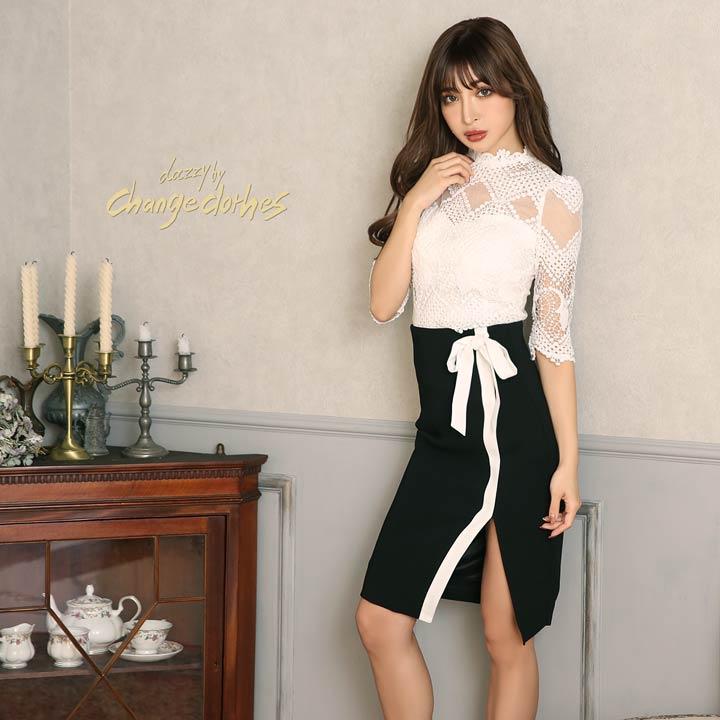fdd47bb57ffa9 ハイウエストのスカートには、小ぶりなリボンが付いていてキュートさもプラス。2ピース仕様なので、着まわしも効くドレスになっています。