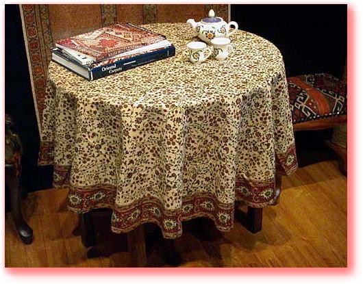 从手工制作宝印度出土 ! 时尚的圆形状 ! 民族设计桌布