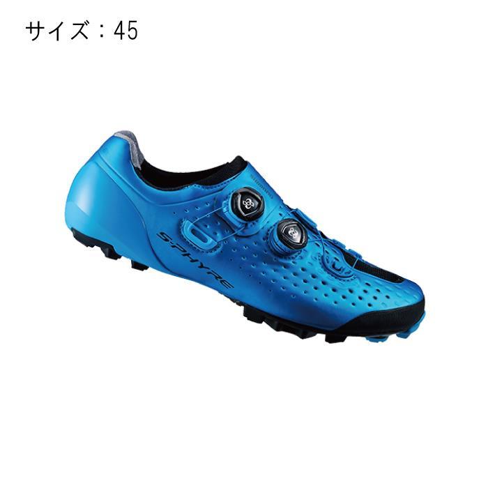 SHIMANO (シマノ) XC900B ブルー シマノ ロードバイク サイズ45 ホイール (28.5cm) シューズ:クラウンギアーズ店