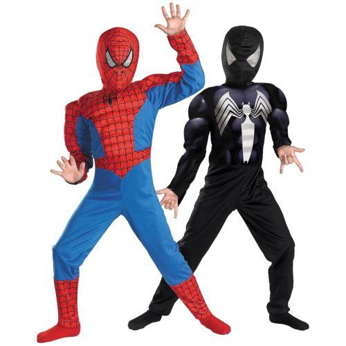 Red//black spiderman halloween costumes for kids superhero cosplay