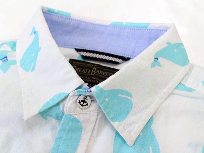 """""""海洋动物""""鲸鱼列印短袖衬衫 [丸店的品牌衣服美国"""