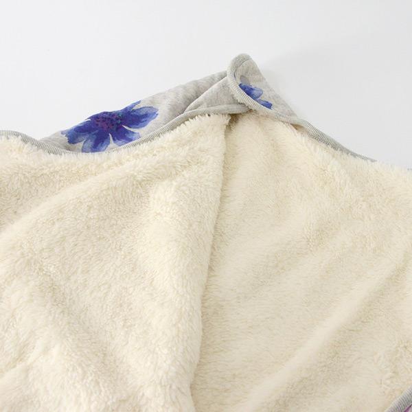 斯收割者婴儿睡衣床上用品防寒羊毛毯核桃花纹祝贺分娩祝贺礼物hakka