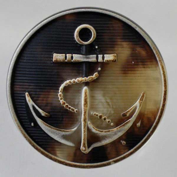 手工制作的(手制,手工艺,按钮替换)塑料按钮(chb2-35)25mm