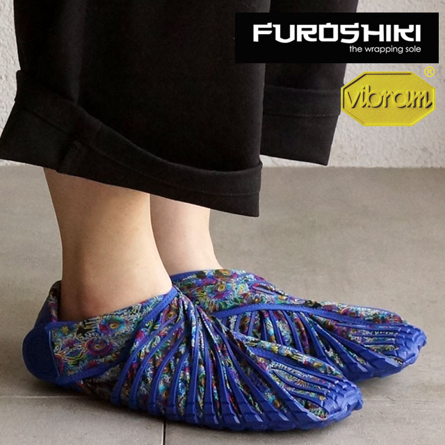 FUROSHIKI shoes furoshiki shoes shoes men's women's FUROSHIKI Blue Flower (16UAC08)