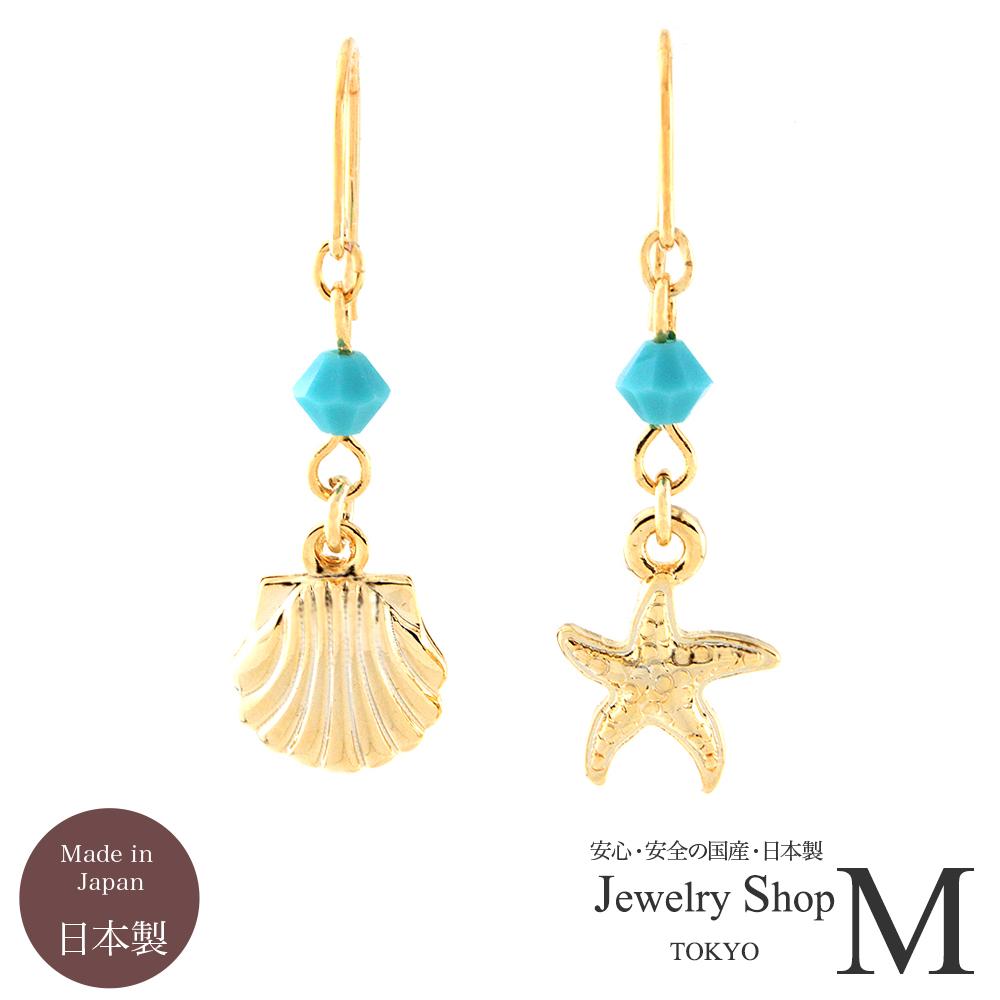 壳(耳环)和海星(海星)扇贝蝙蝠和瓜吊坠图片