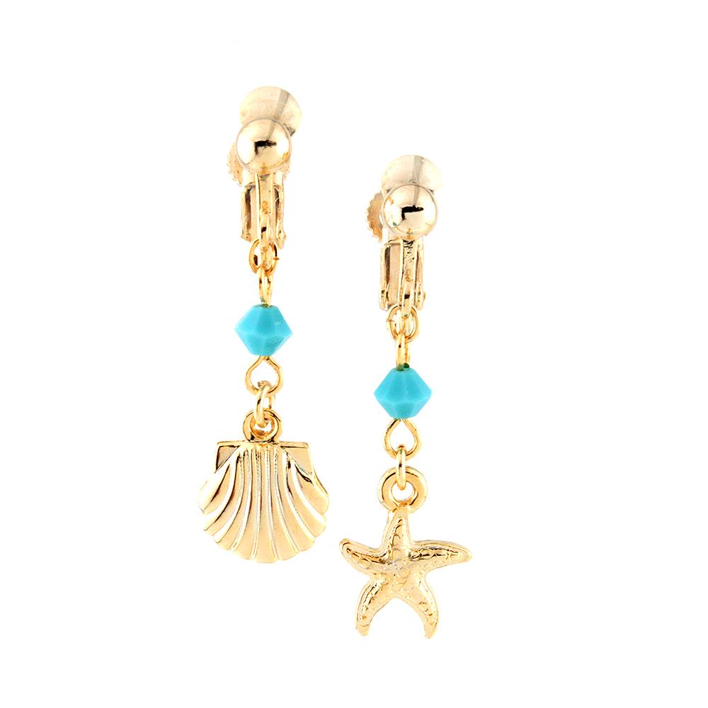 壳(蚂蚁)和海星(海星)扇贝性生耳环上树图片