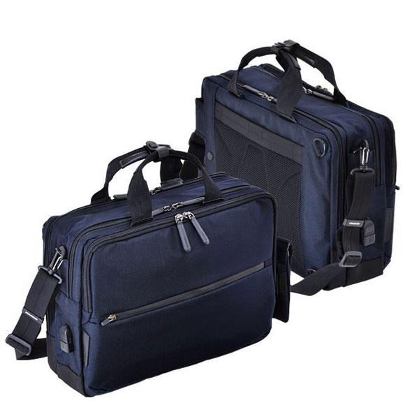 7ce7c2912a80 エンドー鞄 NEOPRO CONNECT ネオプロ コネクト ビジネス 男性 フルクリップ 3WAY ブリーフケース ショルダーバッグ 3way  リュックサック USBポート ネイビー ...