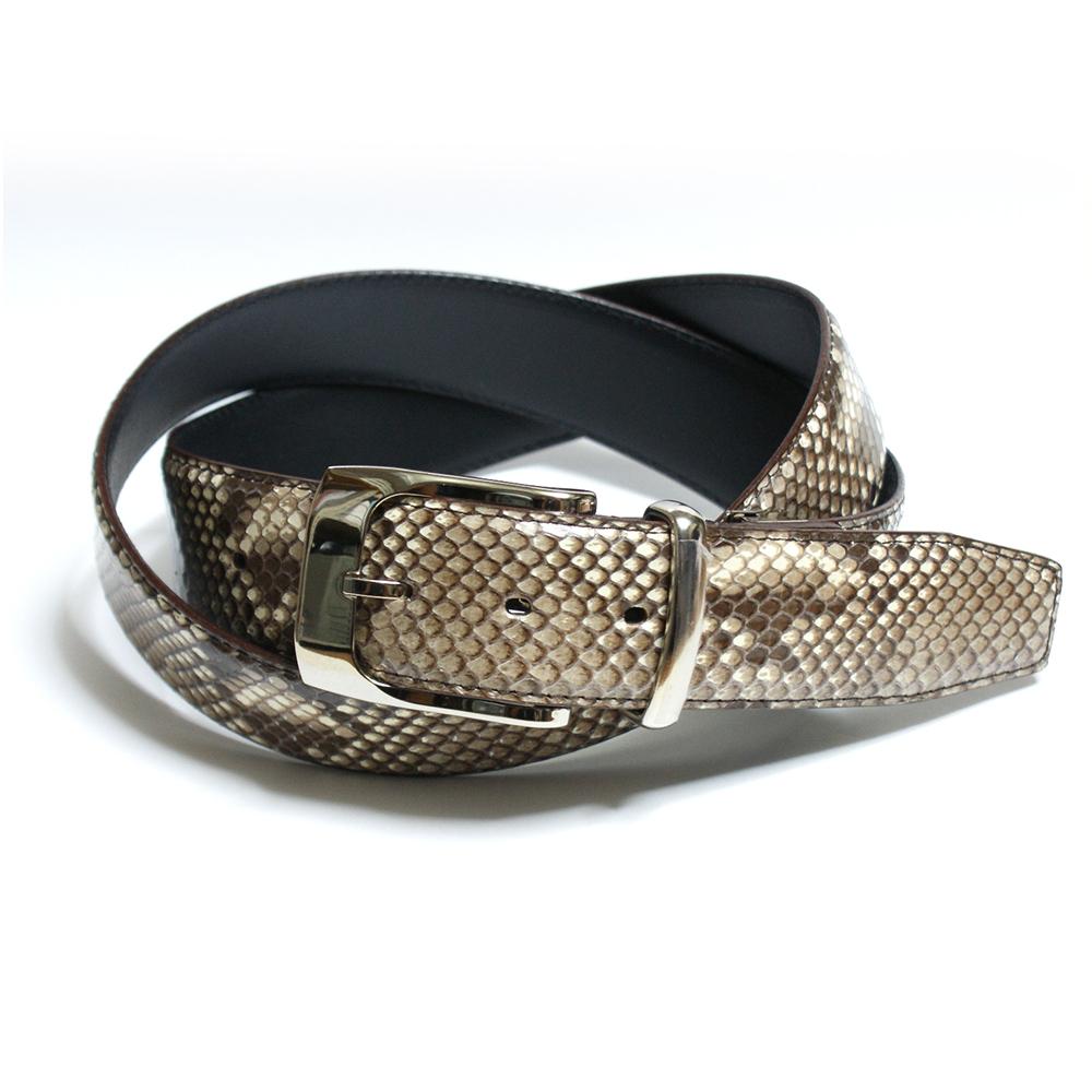 蛇皮革女士和 python 皮带皮带男装: 自然