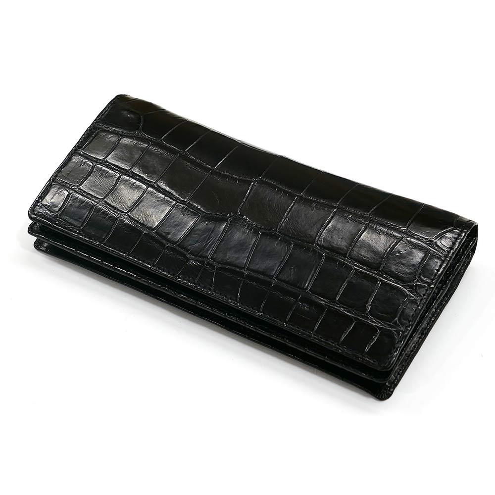 c2ebfc1d81b3 本体表、内装共にクロコダイル革を使ったオリジナルの長財布。 革の部位はすべてクロコダイルを使っています。 本体表は「継ぎ接ぎ無し」の一枚革、内装もクロコ 革を ...