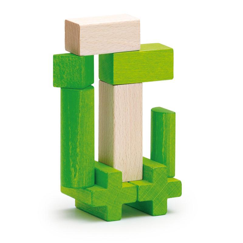 有,堆积erzi混合物积木绿色的收藏袋,来