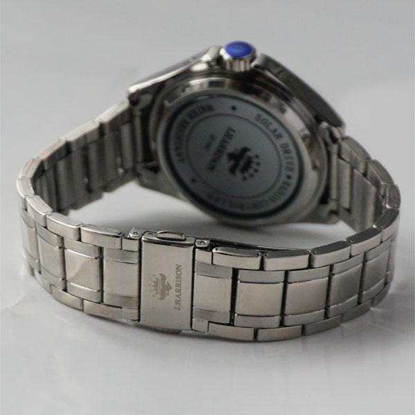 [约翰 · 哈里森] 约翰 · 哈里森 4 石天然钻石与太阳能波男士手表