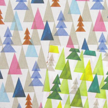 折纸折纸水彩森林格局