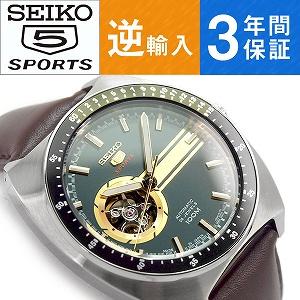 0bb94b4d07 逆輸入SEIKO5 SPORTS 日本製 オートマチック メンズ 腕時計 SSA333J1テンプスケルトンがついた文字盤が特徴のセイコー5スポーツモデル。  安心と信頼の日本製です。