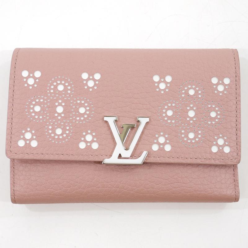 7e39ee11f7dc ... グッズ | DVD | 買取 | お宝市番館 | LOUIS VUITTON | /ルイ·ヴィトン ポルトフォイユカプシーヌコンパクト |  三つ折財布 サイズ:- カラー:ピンク系 | f125