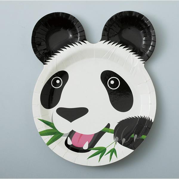 12 纸盘成熊猫, 狮子, 大象