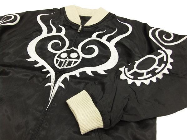 一片柳光 opsj-003 海贼王特拉法尔加罗纹身男装纪念品夹克黑色新图片